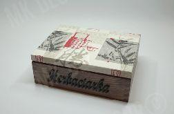HERBACIARKA pudełko na herbatę 6 przegródek