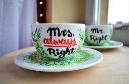 Filiżanki dla pary - Mr. & Mrs.
