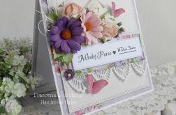 Ślubna kartka w pudełku z okienkiem 29