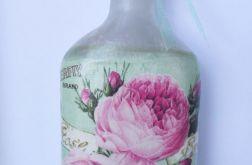Miętowa buteleczka w róże
