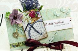 Kartka na urodziny- rowerowy bukiet