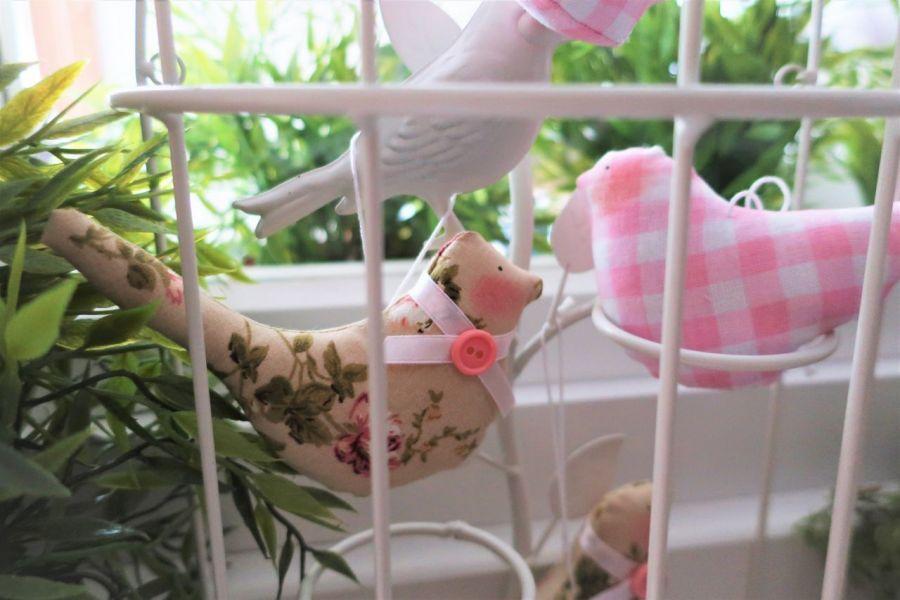 Zestaw ptaszki w różu