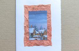 Kartka świąteczna - zimowe domki-nr 4