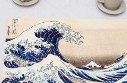 Zestaw 4 dużych podkładek korkowych Wielka fala, Hokusai