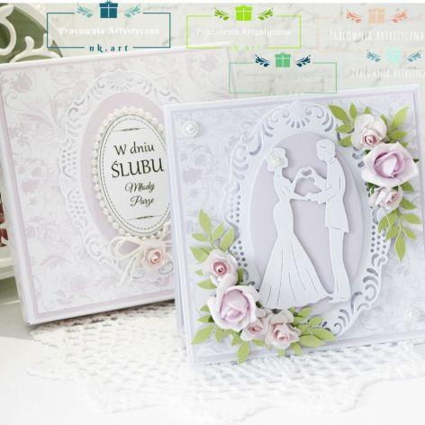 Duet ślubny - kartka w pudełku 01