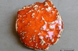 Broszka ceramiczna pomarańczowa
