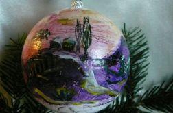bombka Ręcznie Malowana Pejzaż Zimowy