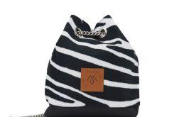 Mały worek Mili Glam Bag 2 - zebra