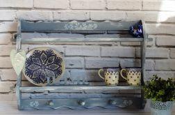 Półka na talerze i kubki, rustykalna