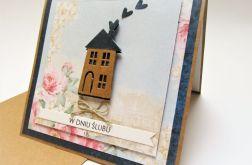Kartka -Ślubny domek