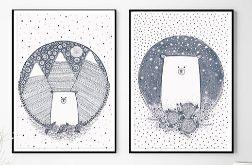 Zestaw 2 ilustracji, Misie