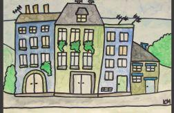 """obraz z serii """"domki"""" nr 12"""