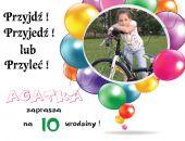 Powiększ do pełnego rozmiaru      Drukuj  Zaproszenie na urodziny dziecka ze zdjęciem na 2,3,4,5,6,7,8,9 itd Balony
