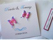 Zaproszenie na Ślub z motylkami