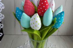 Tulipany materiałowe, z bawełny, Walentynki