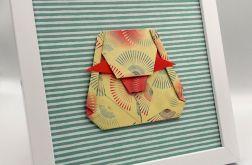 Obrazek origami na ścianę ozdoba papier Mamut