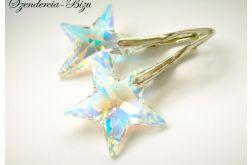 Kolczyki Swarovski Star 20mm Crystal AB