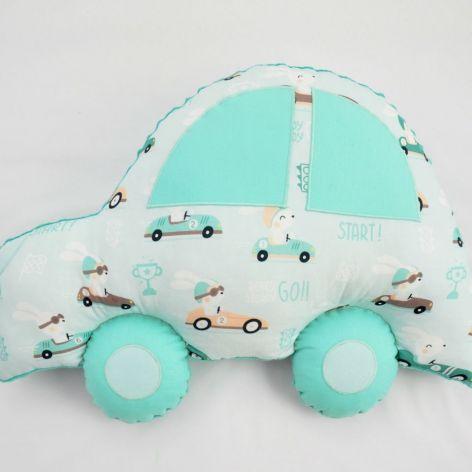 Poduszka samochód zielony