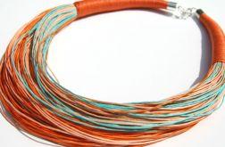 Naszyjnik sznurkowy orange