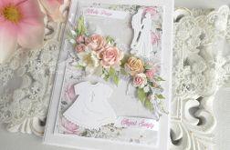 Kartka w pudełku na ślub i chrzciny 06