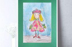 Dziewczynka obrazek, rysunek z dziewczynką
