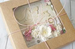 Kartka ślubna w pudełku - z jednośladem v.1