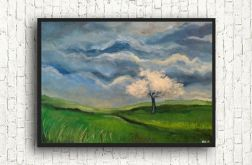 Kwitnące drzewo -obraz akrylowy