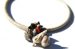 Naszyjnik z lnu i kamieni naturalnych Candelas