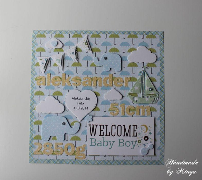 Metryczka Welcome Baby Umbrella
