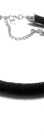 Gruby naszyjnik z drobnyck koralików