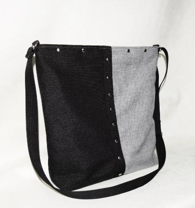 Rockowa torba listonoszka / torba na ramię