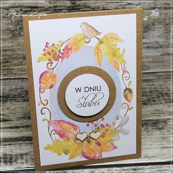 Jesienna kartka -ślub