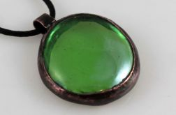 Zielony w miedzi - wisiorek 200810-04