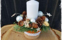 Stroik Świąteczny ze świecą 1