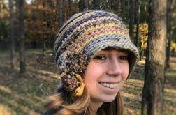 Kapelusz freeform crochet beż