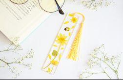 Zakładka do książki- żółta flora 04