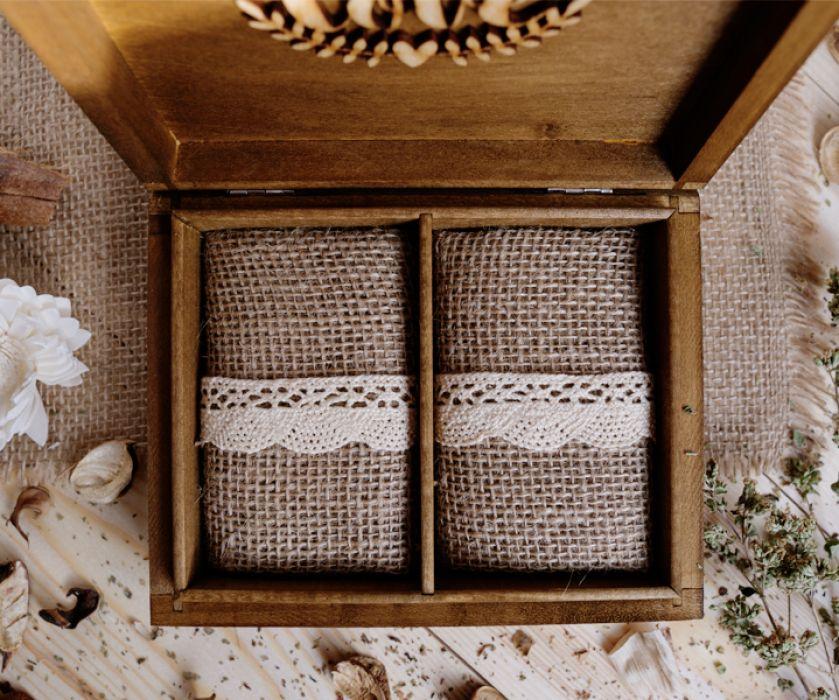 Rustykalne pudełko na obrączki II - GAŁĄZKA