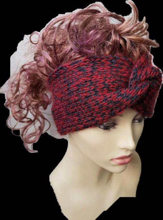 Gruba opaska, handmade, turban, melanż.