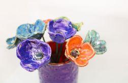 Piękne kwiaty komplet 8 szt ceramiczne ozdoba
