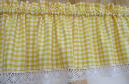 *żółta kratka* Lambrekin 250x35 - wz 2