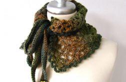 otulacz - ocieplacz ażurowy w jesiennych barwach