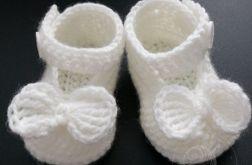 Sandałki szydełkowe Chrzest