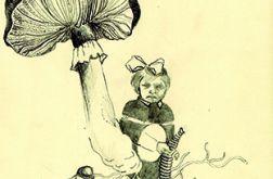 karta pocztowa - w lesie