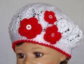 czapeczka /beret Różyczka