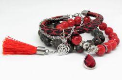 BLOOD - set - kamienie naturalne