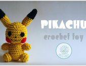 PIKACHU zabawka crochet toy