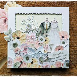 Miłość - kartka ślubna