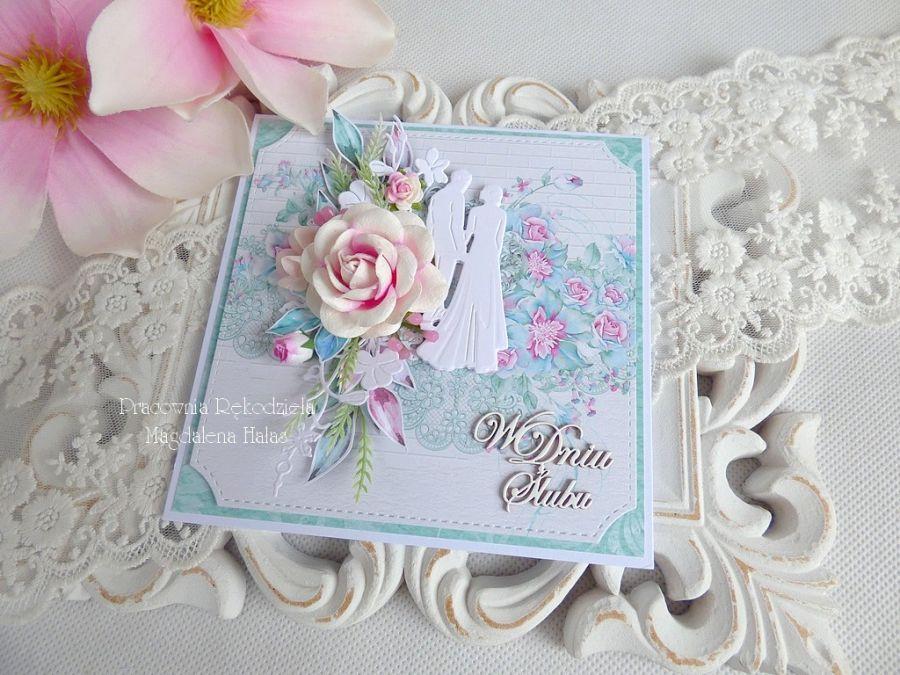 Ślubna kartka w pudełku 221 -