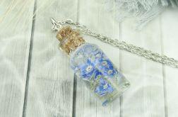 0948-mela/ wisiorek buteleczka z kwiatami