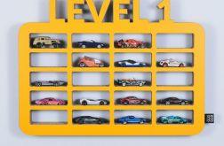Półka na resoraki GARAŻ LEVEL1 | żółty